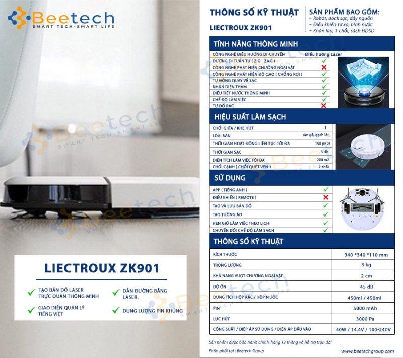 Robot hút bụi Liectroux ZK901
