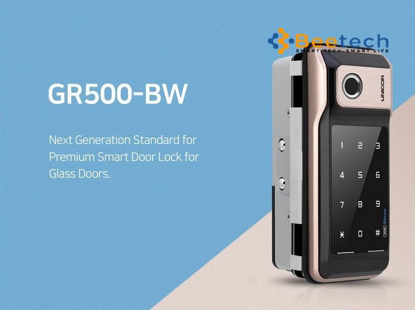 Khóa điện tử cửa kính cường lực Unicor GR500