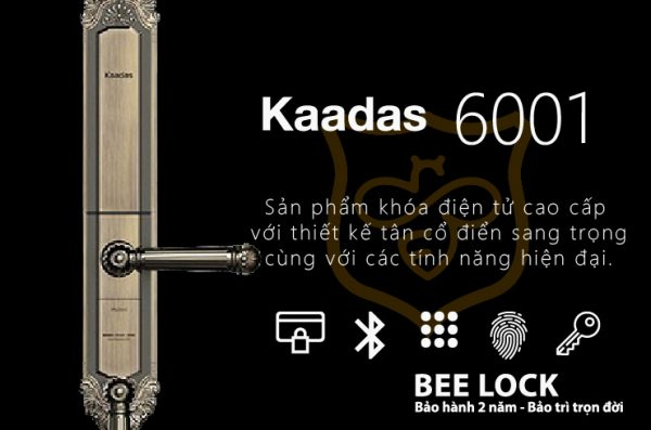 Khóa cửa vân tay cao cấp Kaadas 6001