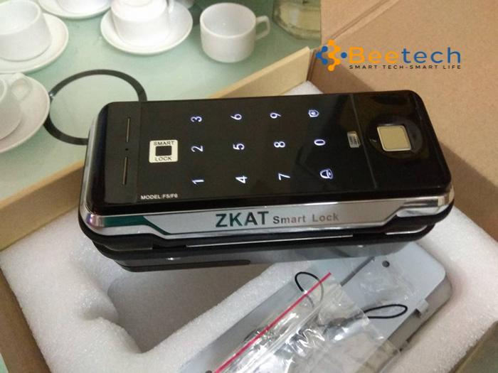 Khóa cửa kính cường lực Zkat Smartlock