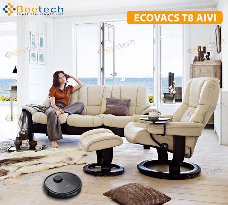 khả năng lau nhà của Ecovacs Deebot OZMO T8 AIVI