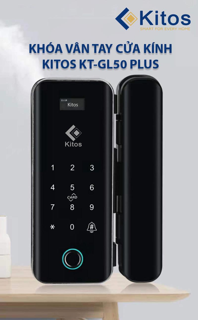 Khóa điện tử cửa kính thông minh Kitos GL50 PLUS
