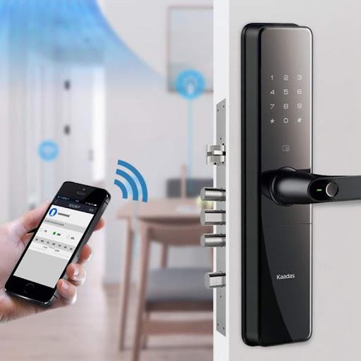 Mở khóa vân tay Kaadas bằng Bluetooth