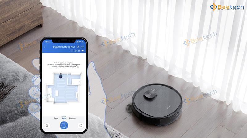 Đánh giá tính năng sản phẩm robot hút bụi Ecovacs T8 AIVI Plus